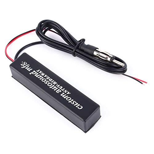 Akozon Amplificador de antena amplificador de señal Ruido bajo Amplificador de señal AM FM Diseño para reemplazo directo Adecuado para todos los automóviles con voltaje de suministro de 12 V