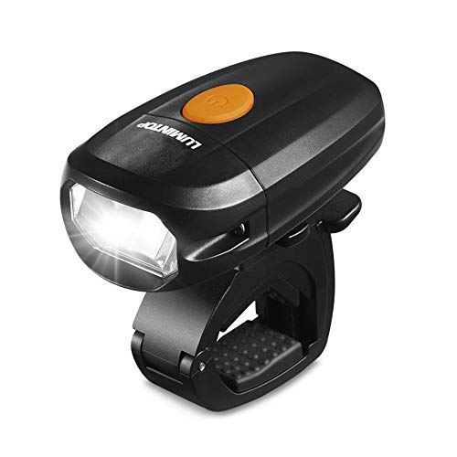 LUMINTOP Bike Light, USB Rechargeable Bicycle Headlight, IP68 Waterproof, 165° Wide Beam LED Front Light, 360° Degree Rotatable, 400 Lumen 10. 5h Runtime Accessories Fits Urban Commuter Bicycles, C01
