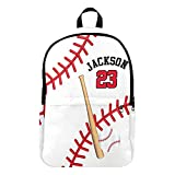 Best Baseball Backpacks - Personalized Name Sports Number Baseball Lace Backpack School Review