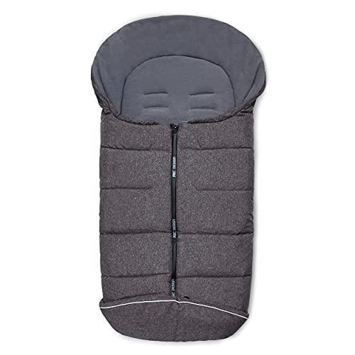 ABC Design Winterfußsack – gepolsterter Fußsack für kühlere Temperaturen – variable Anpassung an den Gurt des Kinderwagens – Farbe: street
