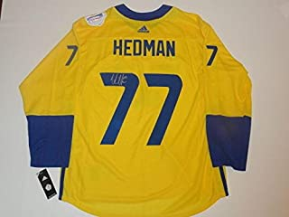 Victor Hedman Signed Jersey - 2016 Team Sweden World Cup Of Coa - JSA Certified - Autographed NHL Jerseys