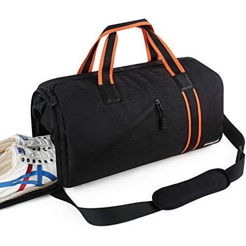 Songwin Borsone Sportivo da Palestra con Scomparto per Scarpe e Tasca portaoggetti bagnati, Grande, Impermeabile Borsone da Viaggio Duffle Bag per Uomo 40L
