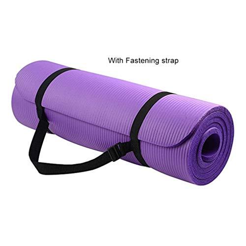 Universele Yogamat Vrouwelijke Nbr Dikke Gymnastiek Oefenpad voor Body Building Duurzame Sport Trainingsmat (paars)