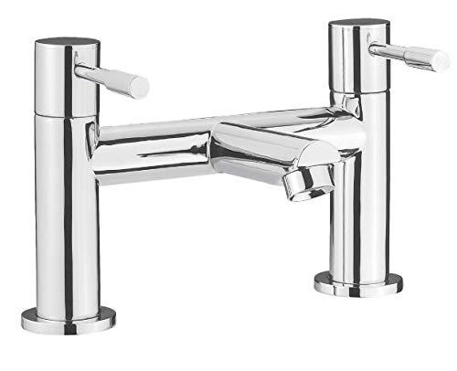 Nuie FJ313 Series Two ǀ Modern Bathroom Round Bath Filler Tap, 155mm x 230mm, Chrome