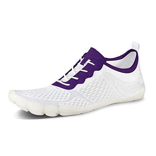 IceUnicorn Zapatos de agua para hombre y mujer, de secado rápido, unisex, con 14 agujeros de drenaje para nadar, caminar, yoga, lago, playa, jardín, parque, conducción, barco, color, talla 40 EU