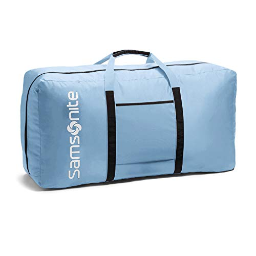 EXCELLENT QUALITY - Constructed of light weight, super durable 400 Denier Nylon material and is hand washable. ROOMY MAIN COMPARTMENT and a zippered interior pocket for small items. CONVENIENT TO CARRY & COLLAPSIBLE - This nylon duffel bag featuring ...