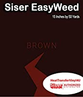 Siser EasyWeed アイロン接着 熱転写ビニール - 15インチ 50 Yards ブラウン HTV4USEW15x50YD