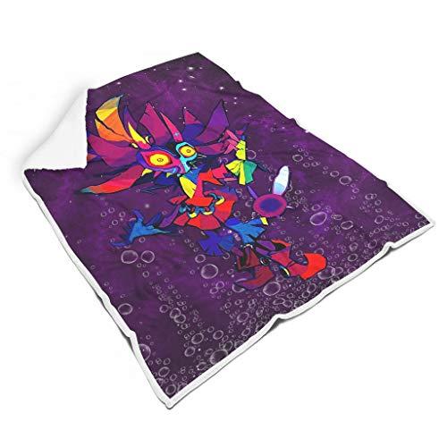 Zhenxinganghu Zelda lila Thermisch Verschiedene Muster warme für Bett Herbst Winter Frühling für Kinder Eleganter Stil white2 130x150cm