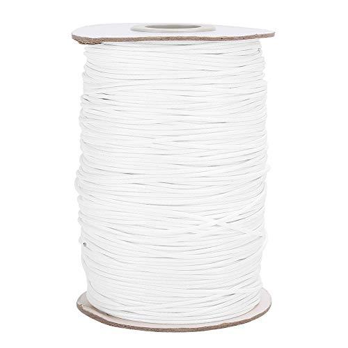Hilo encerado tejido a mano de nailon artesanal, hilo de pulsera, elástico de 160 m para hacer joyas, bolsas de costura(27#white)