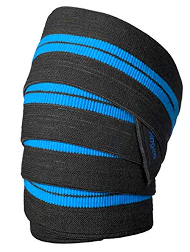 """Leosportz® Knee Support Wraps for Squats -Elastic Knee Straps for Strength Training 