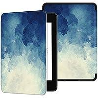 Funda Ayotu de Que Protege del Agua para Kindle Paperwhite (10.ª generación - Modelo de 2018)-Funda Inteligente de Cuero de PU con activación/suspensión automática K10 The Blue Moonlight