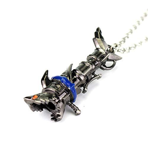 Joyería De League Of Legends Jinao Jinx Arma Miniatura Cañón Colgante Collares Para La Liga De Leyenda Cosplay Jugador Y Fans