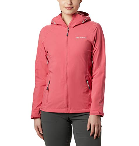 Columbia Trek Light Chaqueta Impermeable, Mujer, Rosa (Rouge Pink), XS