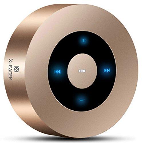 [LED Touch Design] Mobiler Kabelloser Bluetooth Lautsprecher, XLEADER SoundAngel A8 Tragbarer Taschen Mini Lautsprecher mit 5W HD Sound/15H Spielzeit/Micro SD Karte,für iPhone Tablet Laptop Echo Gold