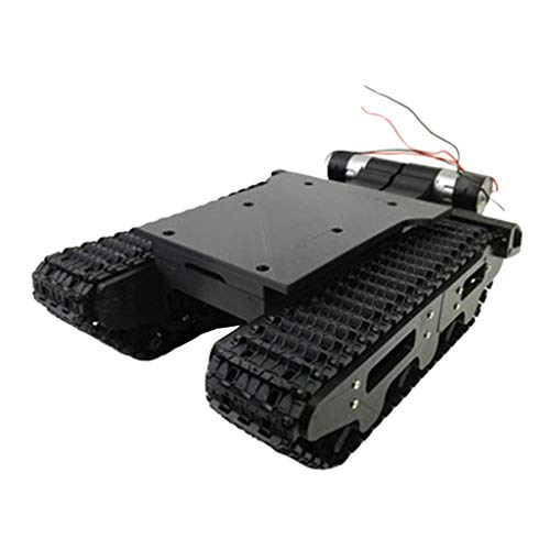 LoveinDIY Smart Robot Car Chassis Kit Big Tank Chassis with 2WD 370 Motors for /Raspberry Pi DIY Remote Control Robot Car Toys