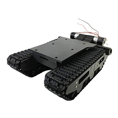 IPOTCH Chassis Roboter Plattform Tank Fahrgestell mit Stoßdämpfung für Arduino