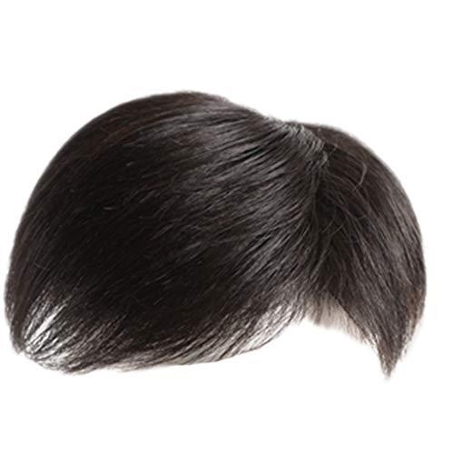 Perruque GCX- La Masculine de Remplacement au-Dessus de Bloc Bloque Les Vrais Cheveux des Hommes Invisible sans Patch Chauve sans Soudure Les Cheveux Blancs Magnifique (Color : C, Size : 16 * 18cm)