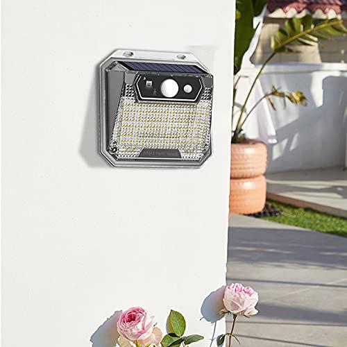 Luz Solar Exterior, Impermeable Aplique Solar Exterior, Lampara Con Sensor Día/Noche, Luces Solares LED Exterior Jardin, Apliques de Pared Modernos, para Jardín, Calle, Valla