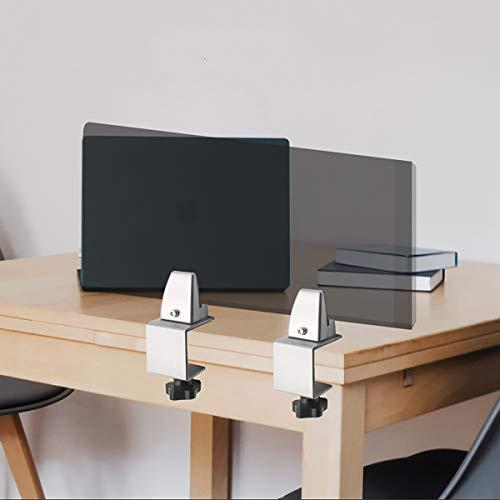 GAYBJ SNEEE Guard-Stand-Bildschirmhalterungen C-Form-Aluminiumlegierungshandlauf Büro-Desktop-Bildschirm-Fixierclip-Partitionsclip Glasklemmen,8PCS