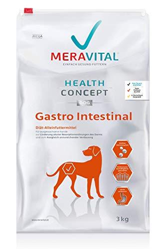 MERAVITAL Gastro Intestinal Hundefutter trocken 3 kg für Hunde bei Verdauungsstörungen, hoch verdauliche Geflügel & Reis Zusammensetzung