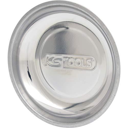 KS Tools 800.0150 Vassoio Magnetico in Acciaio Inossidabile, 1 Calamita, Rotondo, Diametro 150 mm