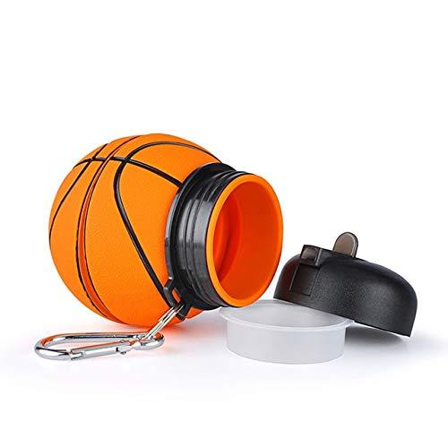 Mdsfe Falten Basketball Wasserflasche Tourismus Picknick Büro Auslaufsicherer tragbarer Wasserkocher Kinder Sport Kunststoff Gesundes Material Wasserflasche - 1, Basketball