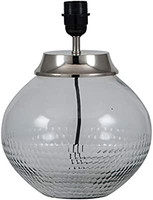Pacific Lifestyle Table Lamp, Clear Glass/Nickel