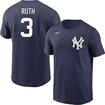 Nike Babe Ruth New York Yankees MLB Boys Youth 8-20 Navy Name & Number Player T-Shirt  Youth Large 14-16