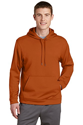 Sport-Tek® Sport-Wick® Fleece Hooded Pullover. F244 Texas Orange 2XL