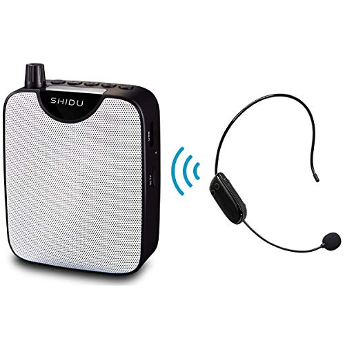 Draagbare voice Amplifier PA-systeem met UHF headset microfoon, Loud Speaker Support Recording Funtion & U Disk/TF Perfect for Tour Guide, Teaching, Coaching, Presentation (M500UHF)