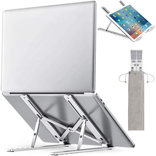 Foldable Vertical Laptop Stand Height Adjustable Portable Laptop Holder, Aluminum Alloy Desktop Mount Compatible for Desk