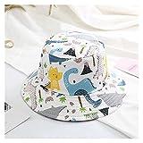 YINGNBH Sombrero de Verano para niños Sombrero de Verano para niños Sombrero de cucharón bebé Dinosaurio Impresión Pescador Caps Girls Boys Beach Sombreros Niños Casos Casos