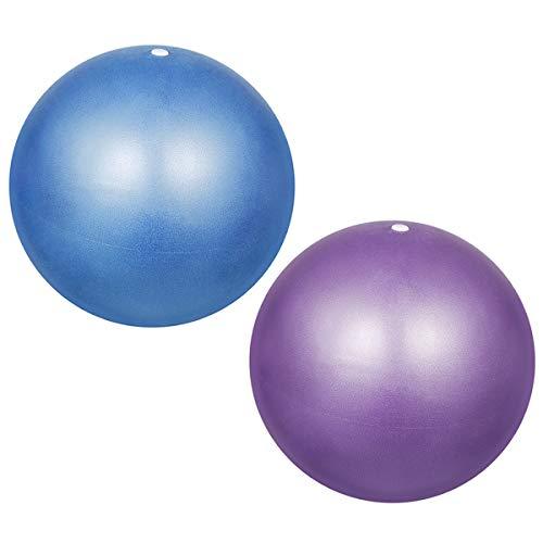 Kissral Pilates Ball Gymnastikball 25 cm Klein Extra Dick Anti-Burst Rutschfester & Superleichter Soft Gymnastikball mit Schnell Pumpe für Yoga Physiotherapie