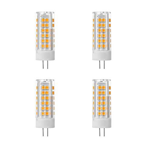 Bombilla LED G4,JC Tipo Bi-Pin Base,9W 90W lámpara halógena Equivalente,Bulbo de AC220V Paisaje,Mini G4 Bombillas para Campana de Cocina/Debajo del gabinete/RV,Tricolor Regulable,4 b