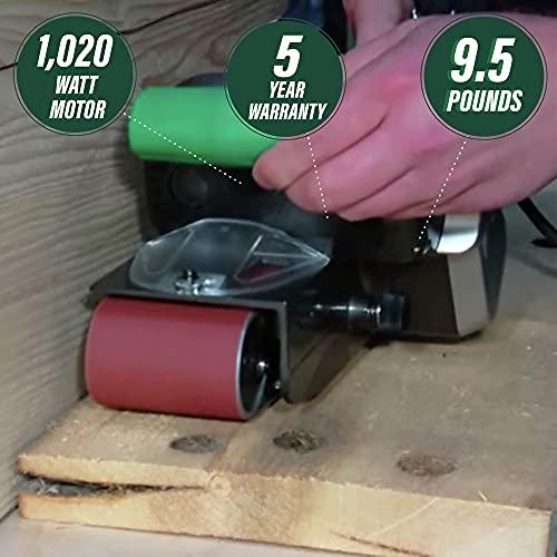 Metabo HPT Belt Sander | Variable Speed | 3-Inch x 21-Inch V-Belt | 9.0 Amp Motor | Soft Grip | 5-Year Warranty | SB8V2