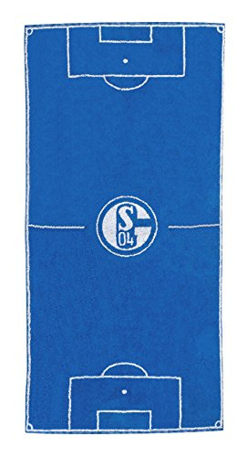 FC Schalke 04 Handtuch Spielfeld 50x100cm, 100% Baumwolle