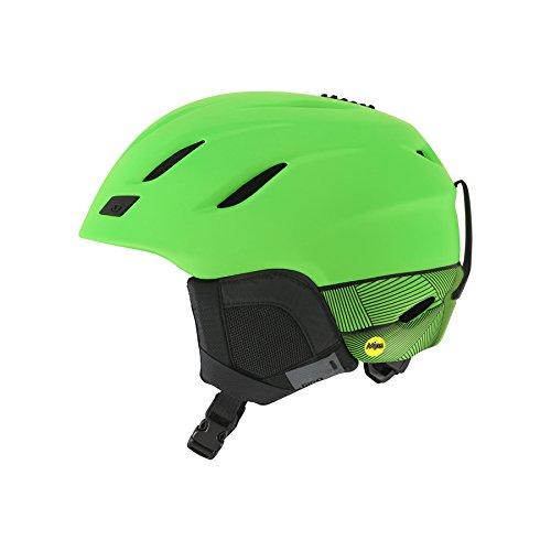 GIRO(ジロ) スキー スノボー ヘルメット NINE MIPS AF Matte Bright Green アジアンフィット M(55.5-59.0cm) 7082554