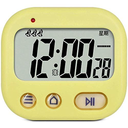 Mini temporizador de cocina, Mini reloj 2 en 1Timer y reloj, gran pantalla LCD y función de cuenta atrás Countup, soporte retráctil y el gancho, de gimnasia, de barbacoa, que cocina, una gran alarma (