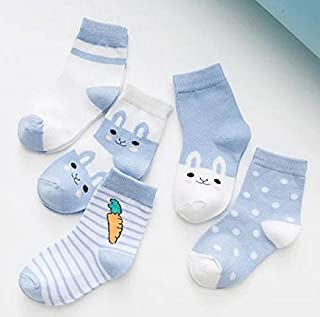 CAOLATOR, 5 pares Calcetines para Niños Niñas Caricatura Algodón Calcetines infantiles Transpirable Antibacteriano y Sin Olor
