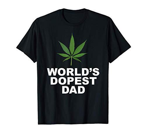 World's Dopest Dad, El cannabis, la mala, Marihuana, Negro Camiseta