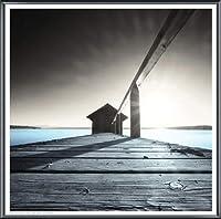 ポスター アーティスト不明 Old Boathouse 額装品 アルミ製ベーシックフレーム(ブラック)