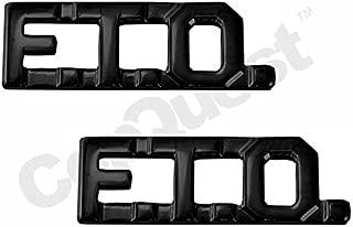 UNIFORM INSIGNIA Collar Insignia - 3/8-inch high - Pair - FTO - Black
