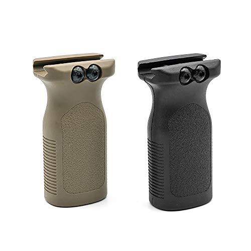 20mmレイル 対応 2個セット【 良品武品 】 MAGPUL タイプ RVG レール バーティカル グリップ BK & DE 2個入 樹脂製 フォアグリップ