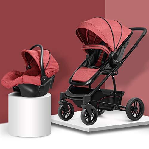 YRSTC Compact kinderwagen, lichte wandelwagen, maxi-geheugenmand, reiswagen, 3-panel-overkapping, 5-punts veiligheidsgordel en high-capacity basket