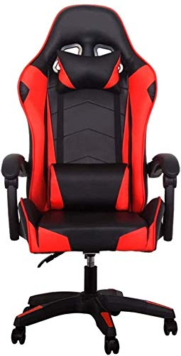 WJMLS Computer Chair Home Office Chair E-Sport-Spiel Racing Stuhl Reclining Aufzug (Color : Red, Size : Norma)