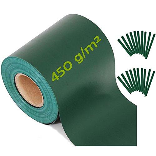 workingHOUSE Pannelli per Recinzioni, Oscurante, Frangivista, Alta qualità, Recinzione Giardino 35 m x 19 cm + 20 Clip Fissaggio, Materiale di 450 gsm di Spessore (Verde)