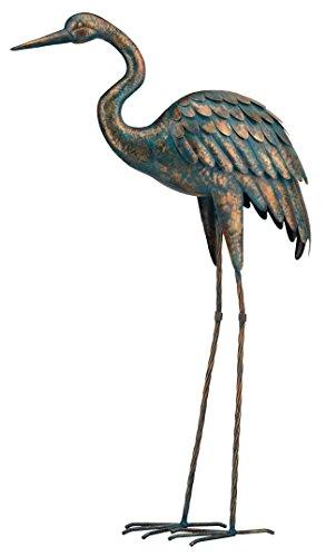 Regal Art &Gift Patina Crane Standing Art, 44-Inch