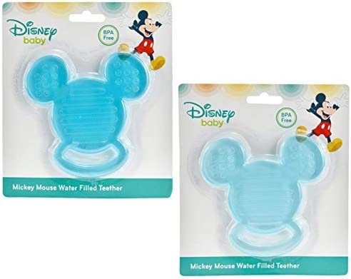 Disney 2 Pack Baby Mickey Mouse Water Filled Teether Blue product image