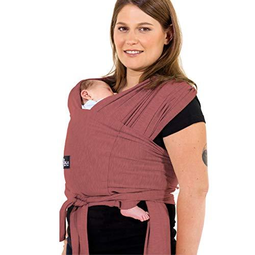 Babytrage einfach zu tragen (einfach anzuziehen), verstellbar Unisex - Mehrzweck-Babytrage bis 10 kg geeignet - Babytrage - Bourdeaux - Registered Design KBC®