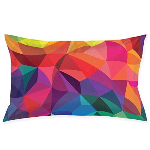 Wen-shop Funda de Almohada de Papel Tapiz de Colores Brillantes